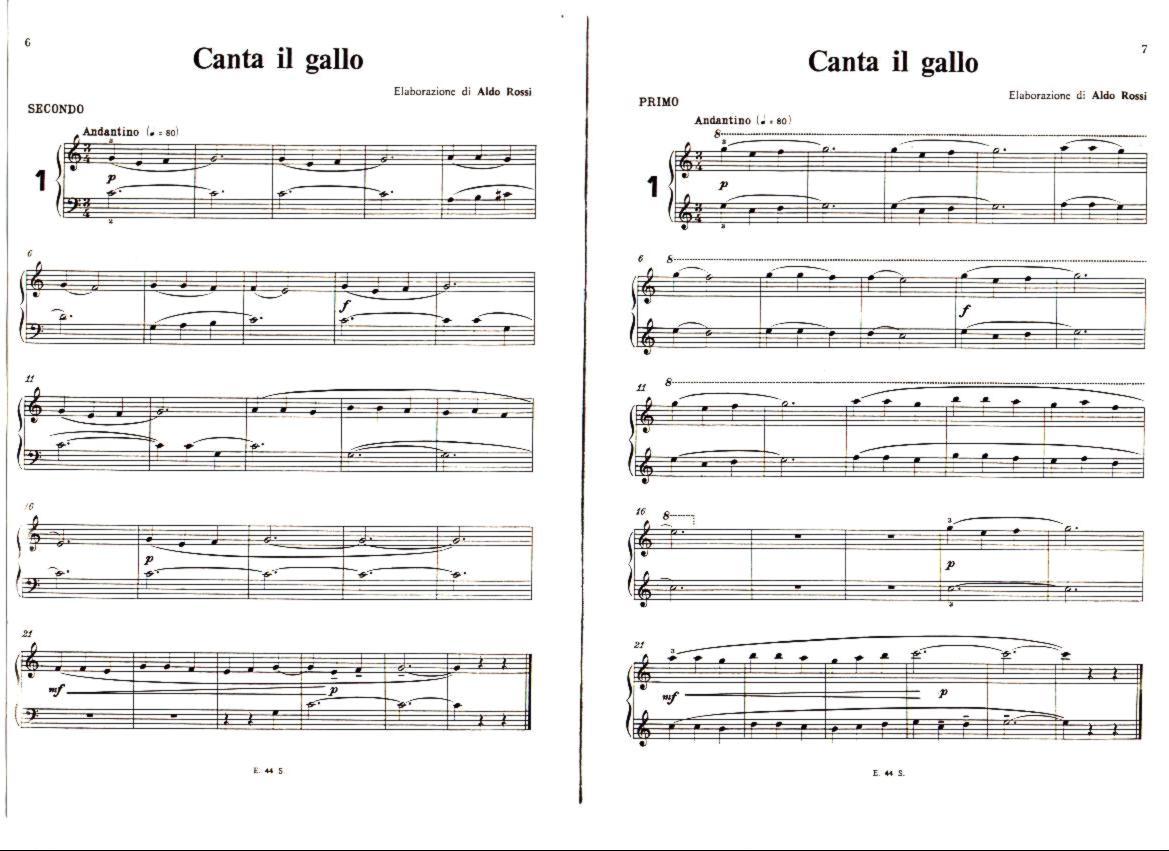Spartiti a 4 mani per pianoforte